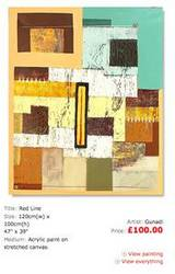 November £100 Promo - Red Line by Gunadi Painting