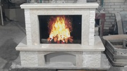 MARBLE FIREPLACE,  Fiore Beige