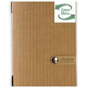 DAG RECYCLED PAPER BROWN CORRUGATED CARD MENU HOLDER A5 SIZE