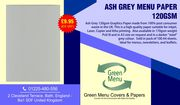 Fine Dining Ash Grey Menu Papers
