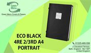 Buy Eco Black Menu Folders A4 Portrait Size For Restaurant
