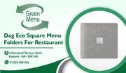 Dag Eco Square Menu Folders For Restaurant
