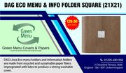 Dag Eco Square Menu Folders